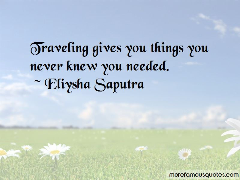 Eliysha Saputra Quotes