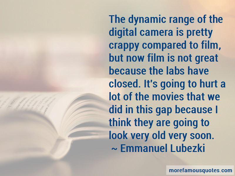 Emmanuel Lubezki Quotes Pictures 2