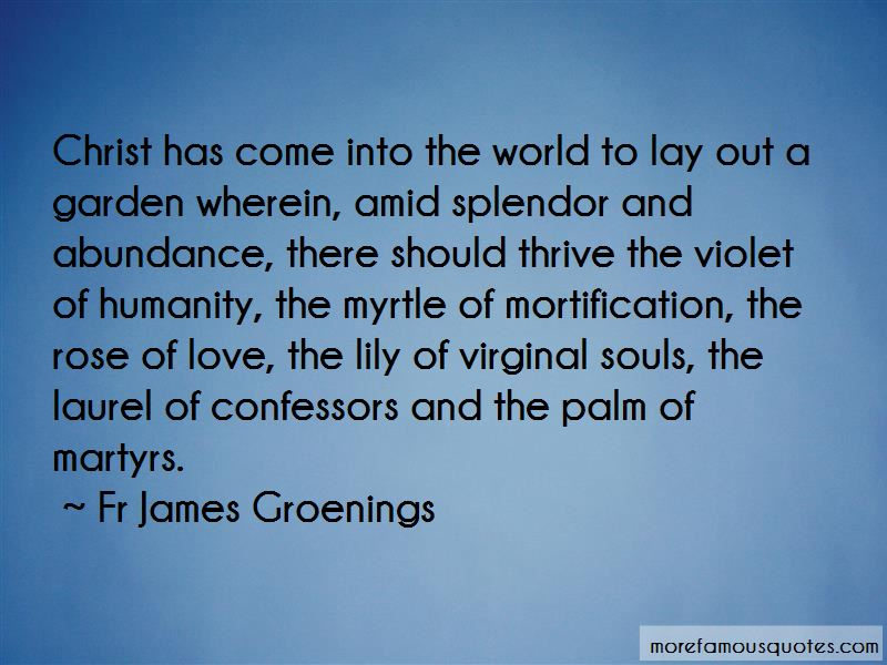 Fr James Groenings Quotes