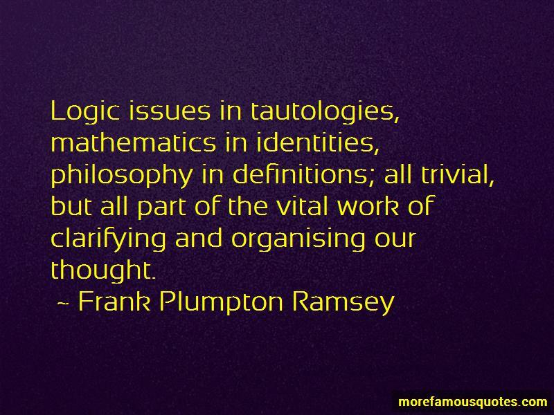 Frank Plumpton Ramsey Quotes