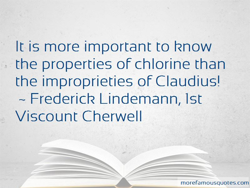 Frederick Lindemann, 1st Viscount Cherwell Quotes Pictures 2