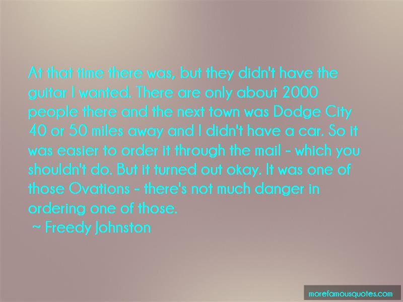 Freedy Johnston Quotes