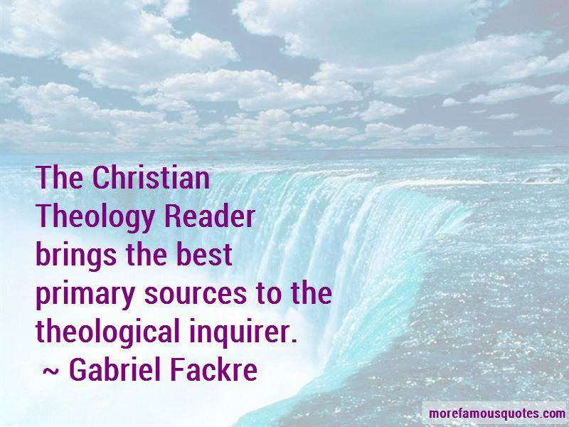 Gabriel Fackre Quotes Pictures 4