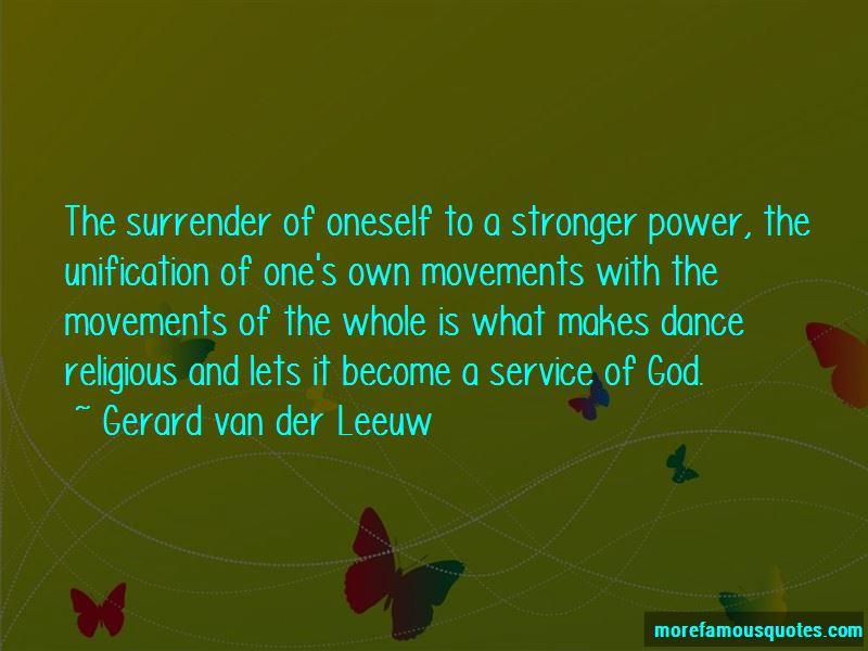 Gerard Van Der Leeuw Quotes