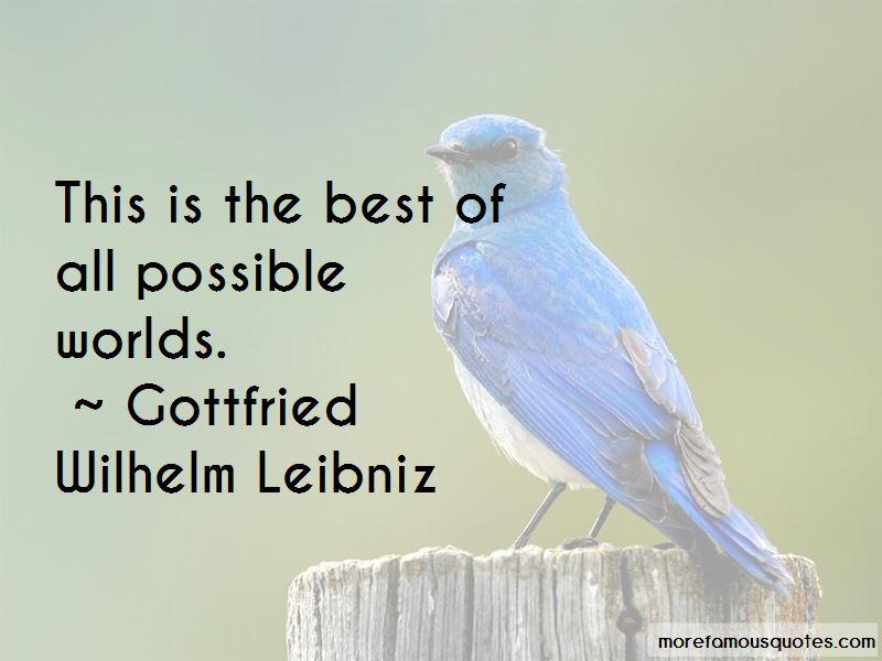 Gottfried Wilhelm Leibniz Quotes Pictures 3