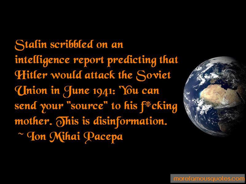 Ion Mihai Pacepa Quotes