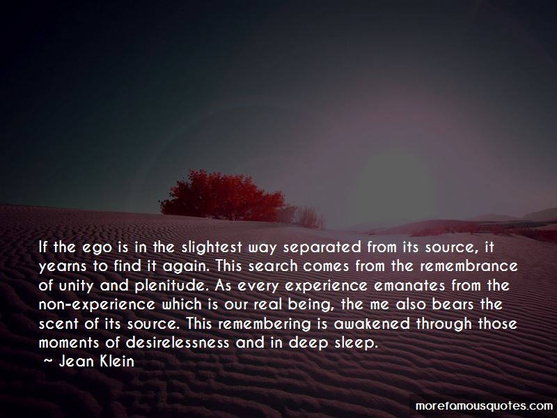 Jean Klein Quotes Pictures 4