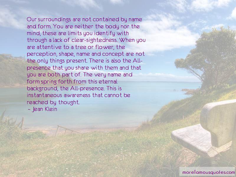 Jean Klein Quotes