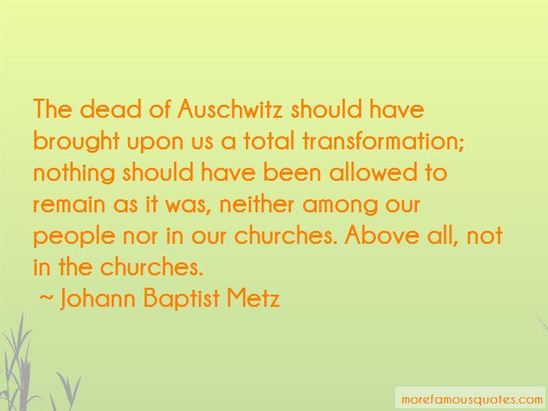 Johann Baptist Metz Quotes Pictures 2