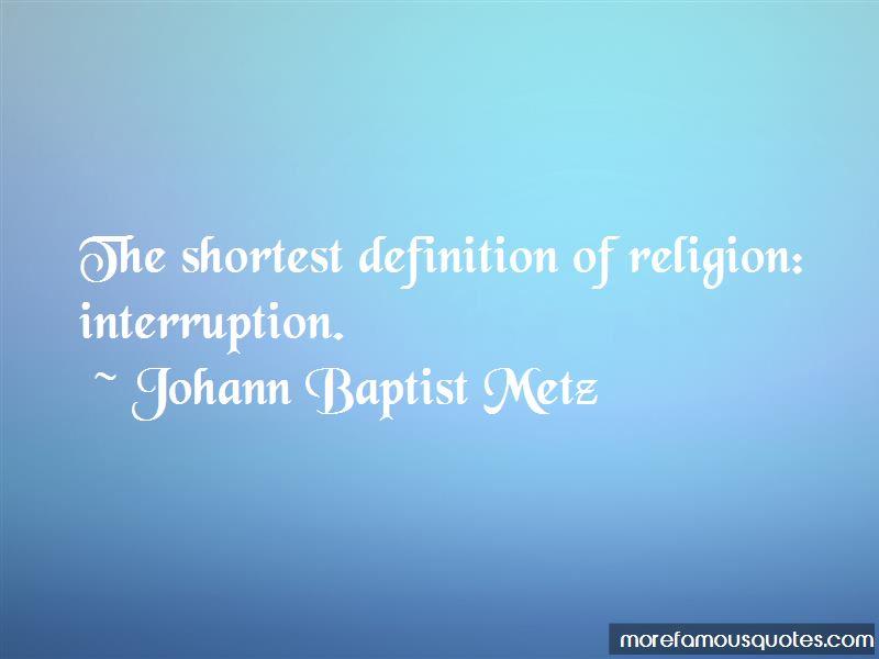 Johann Baptist Metz Quotes