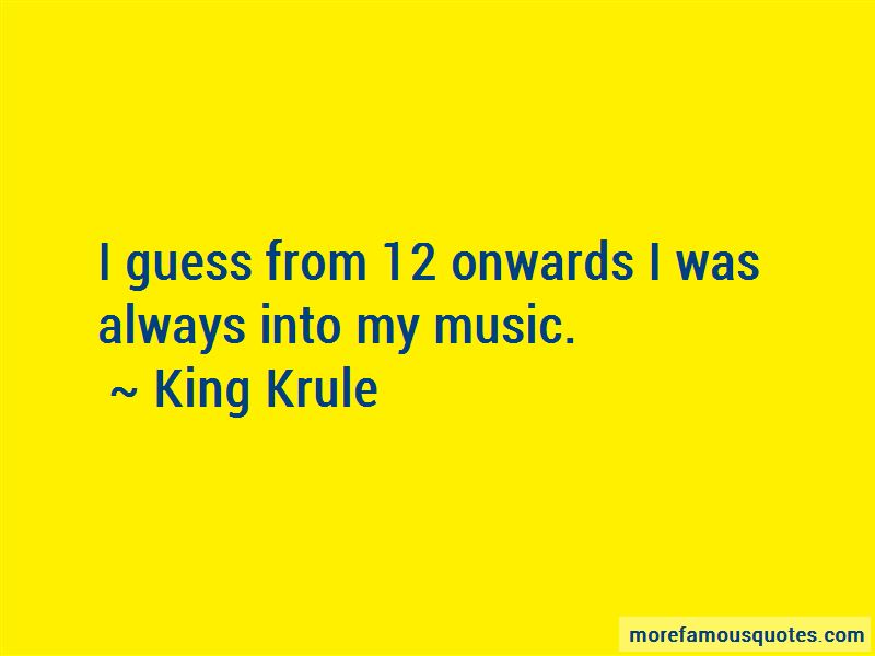 King Krule Quotes