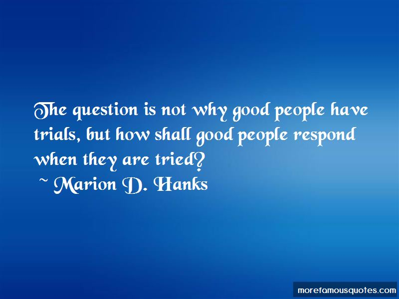 Marion D. Hanks Quotes Pictures 2
