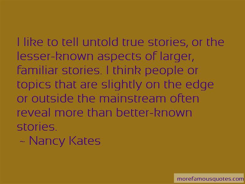 Nancy Kates Quotes