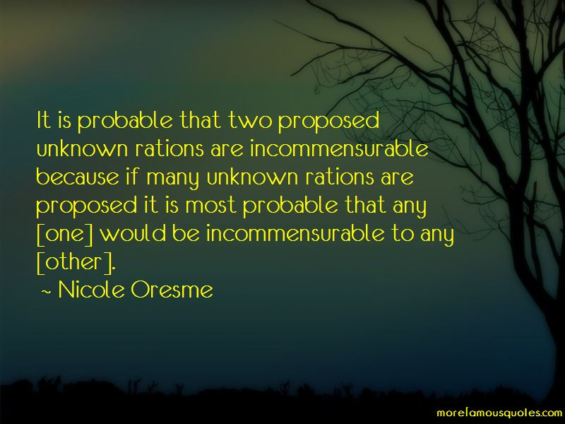 Nicole Oresme Quotes