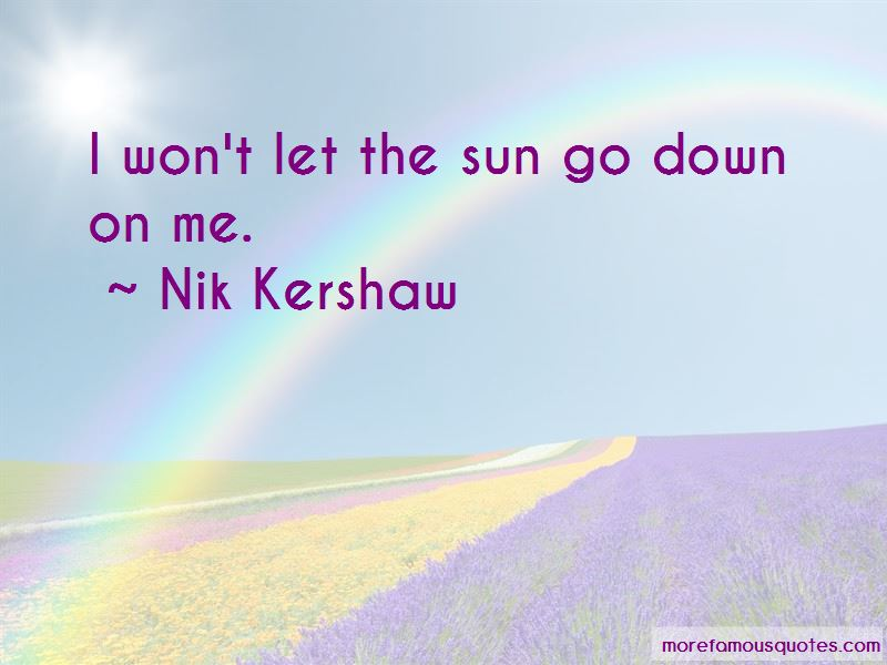 Nik Kershaw Quotes Pictures 2