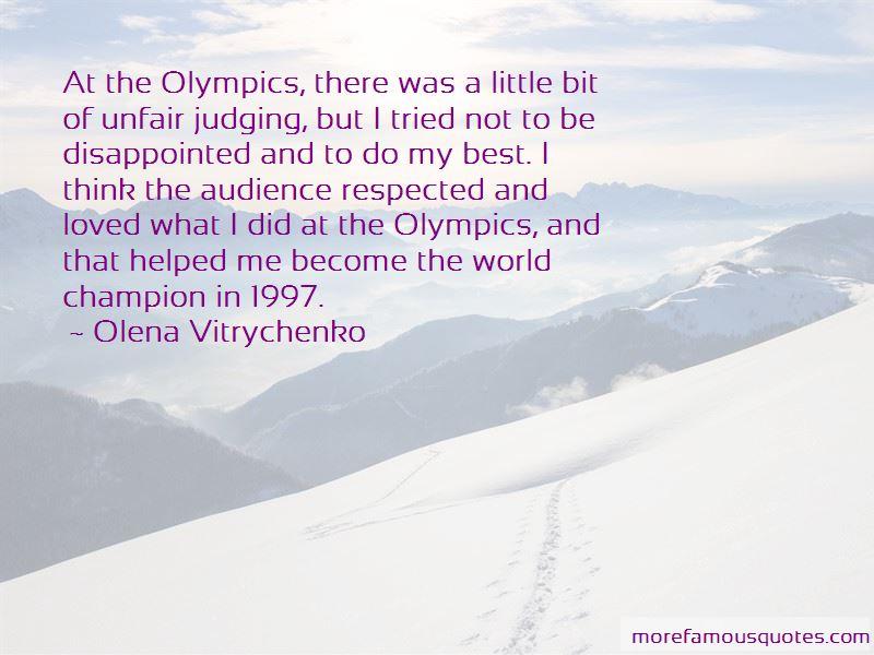 Olena Vitrychenko Quotes