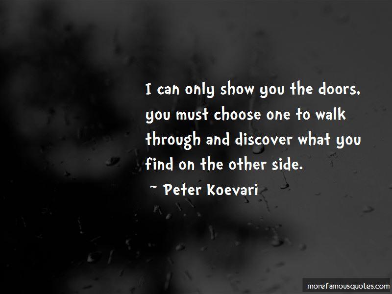 Peter Koevari Quotes