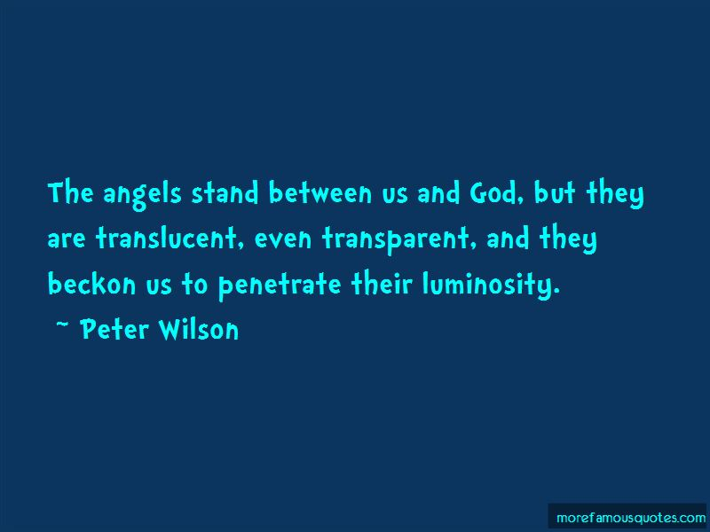 Peter Wilson Quotes
