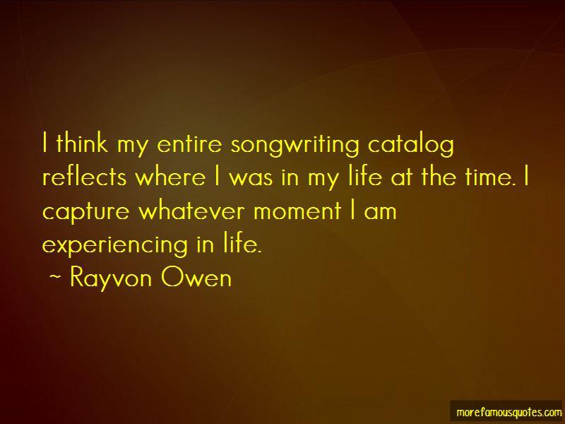 Rayvon Owen Quotes