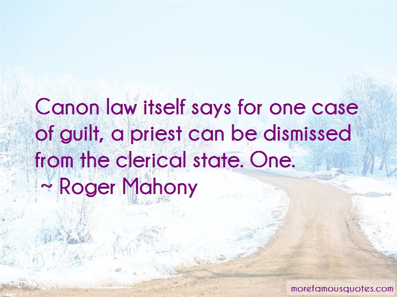 Roger Mahony Quotes Pictures 2