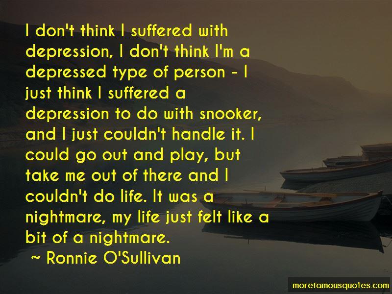 Ronnie O'Sullivan Quotes