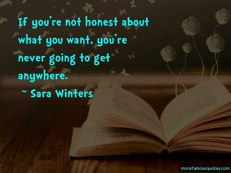Sara Winters Quotes