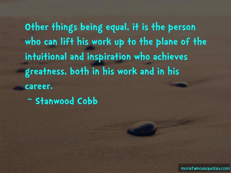 Stanwood Cobb Quotes