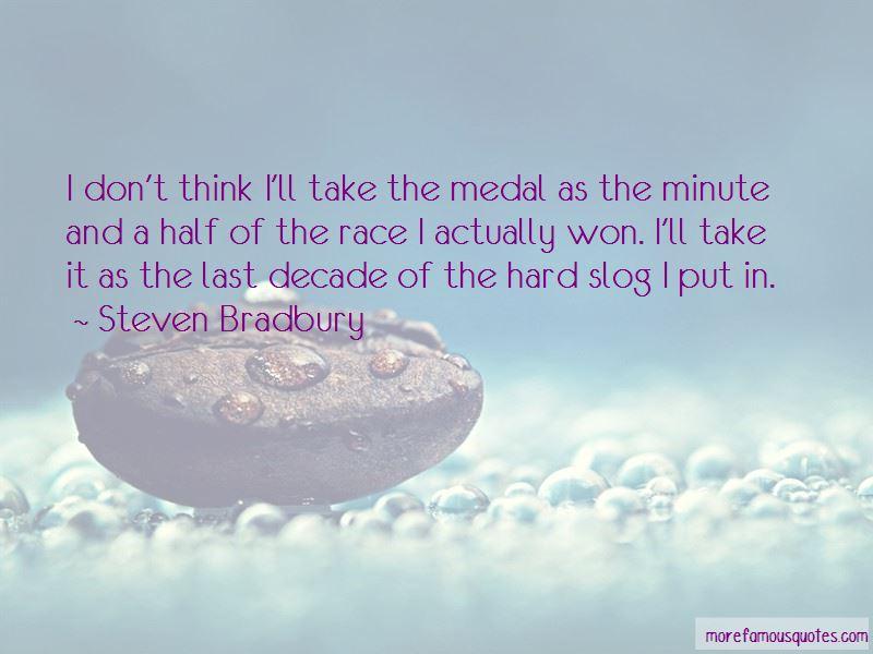 Steven Bradbury Quotes