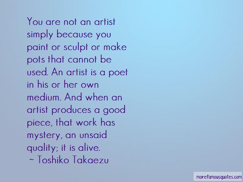 Toshiko Takaezu Quotes Pictures 3