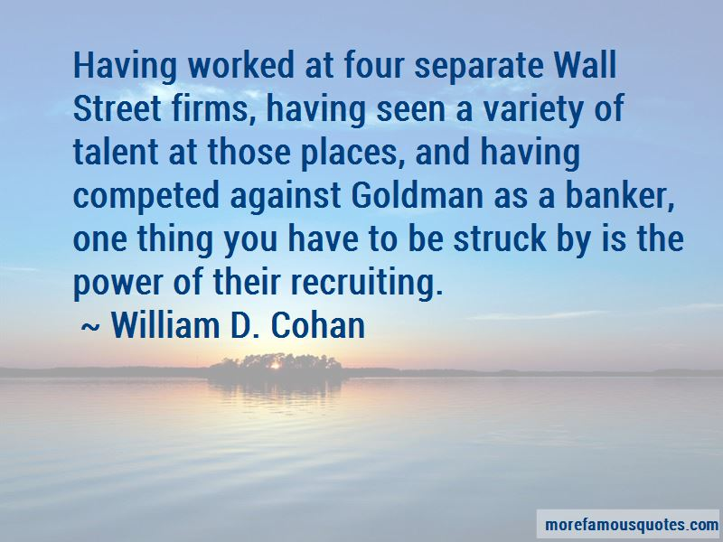 William D. Cohan Quotes
