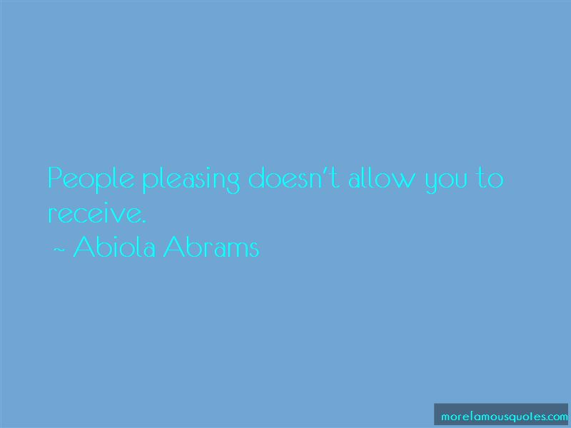Abiola Abrams Quotes Pictures 4