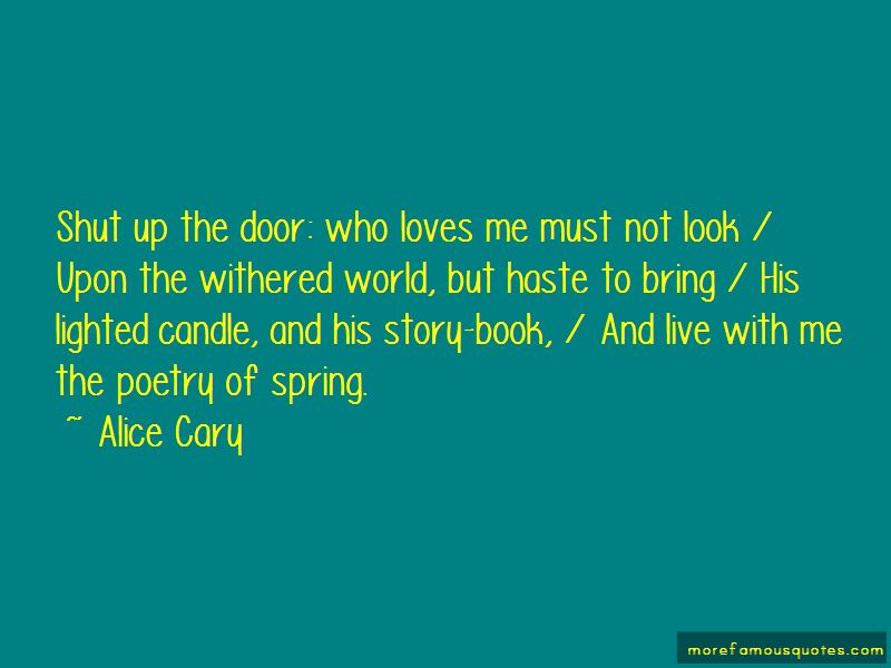 Alice Cary Quotes