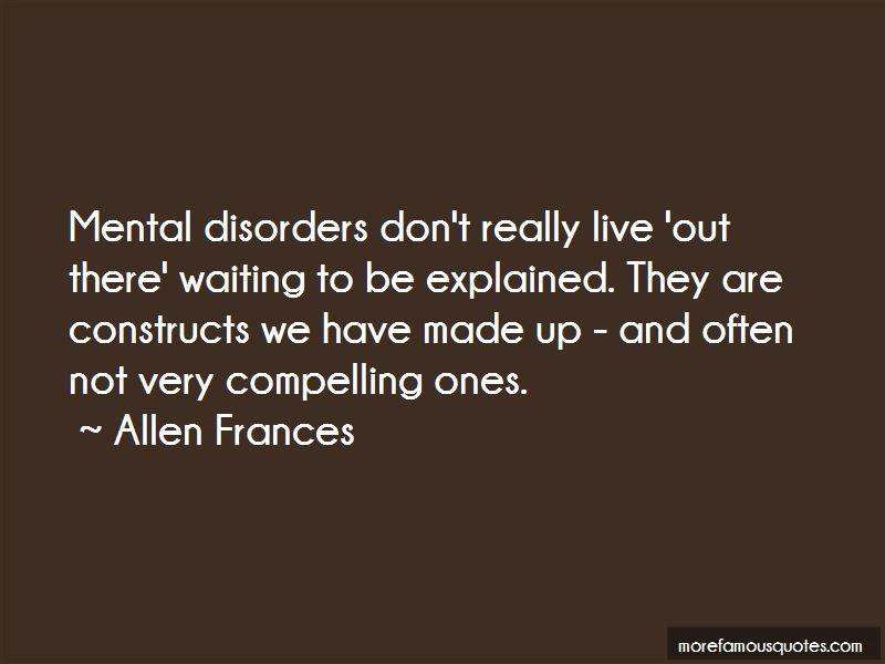 Allen Frances Quotes