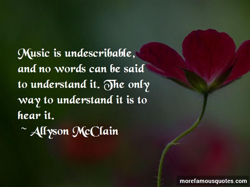 Allyson McClain Quotes