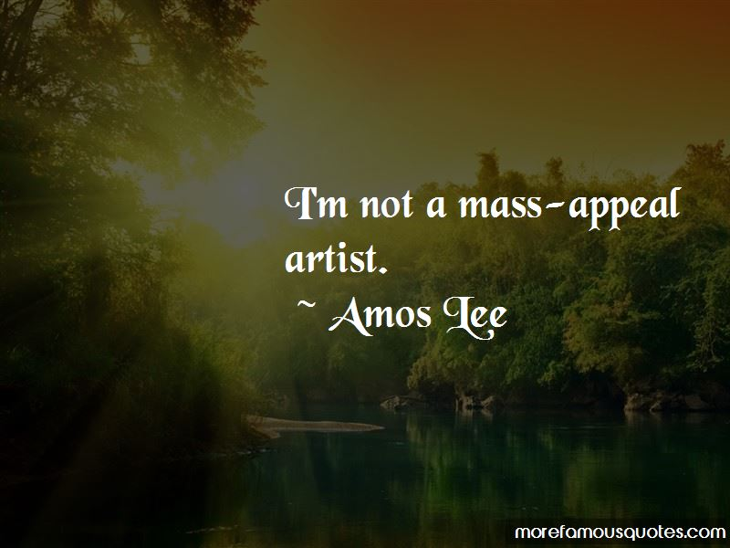Amos Lee Quotes
