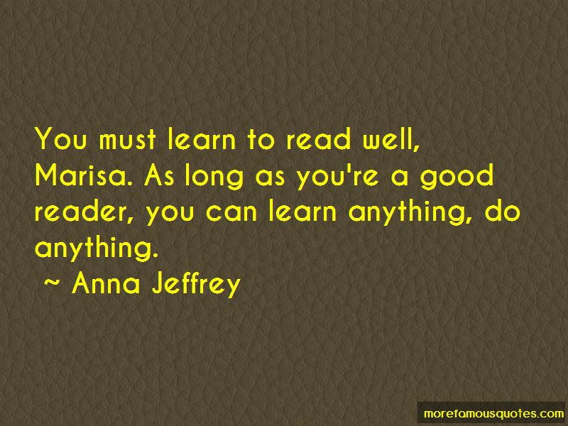 Anna Jeffrey Quotes