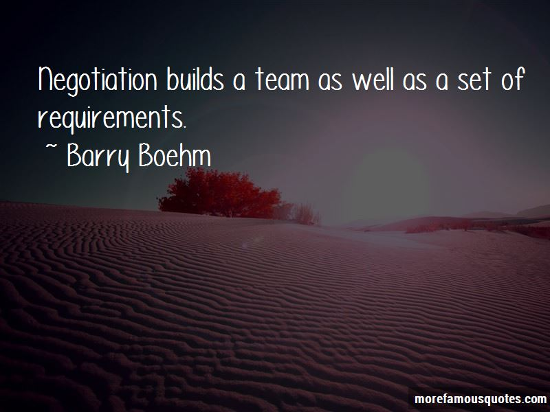 Barry Boehm Quotes