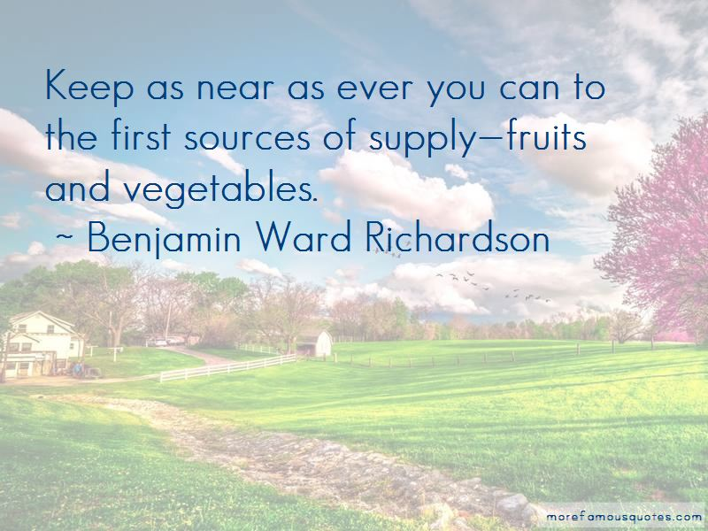 Benjamin Ward Richardson Quotes Pictures 3