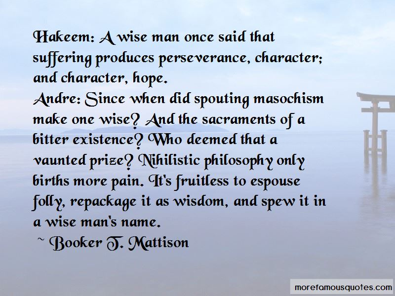 Booker T. Mattison Quotes