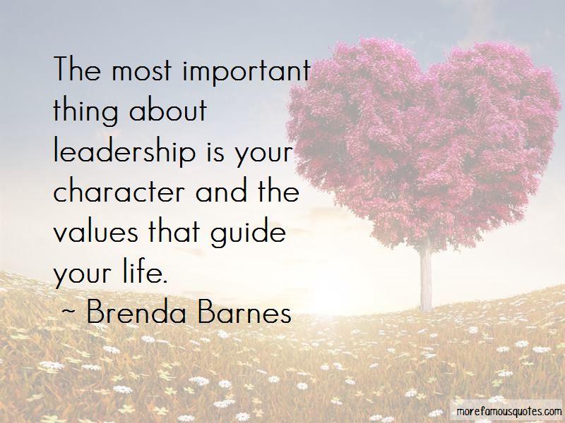 Brenda Barnes Quotes