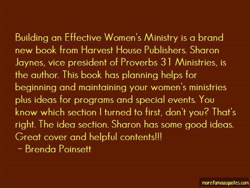 Brenda Poinsett Quotes