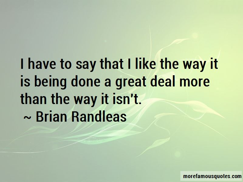 Brian Randleas Quotes Pictures 2