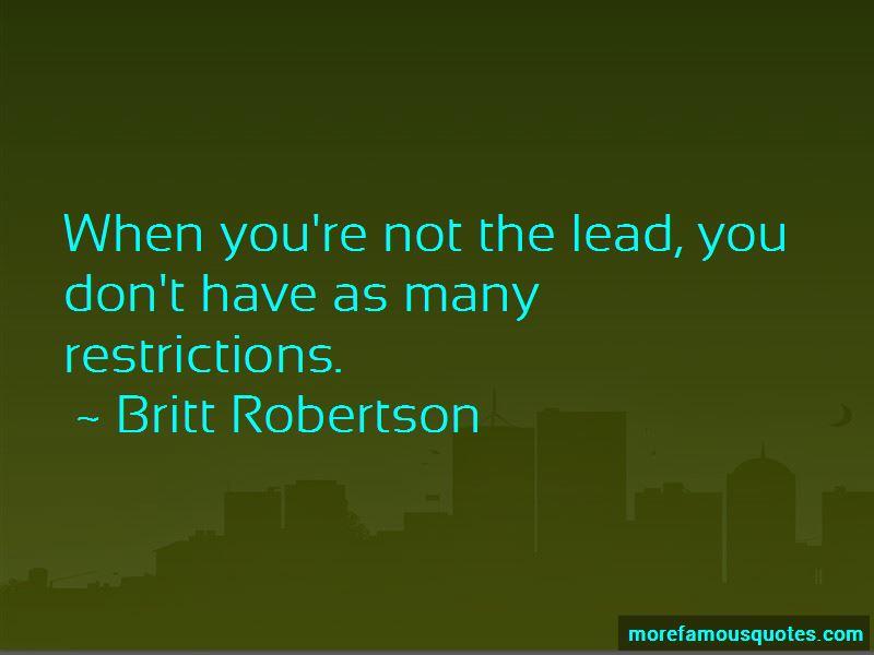 Britt Robertson Quotes