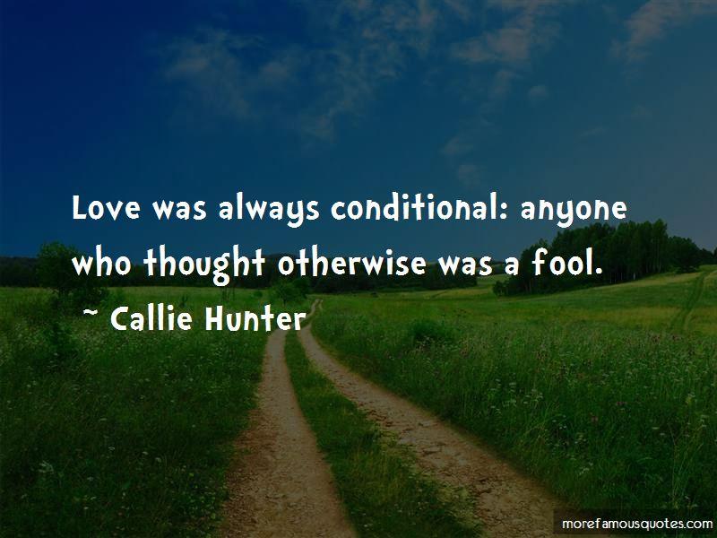 Callie Hunter Quotes