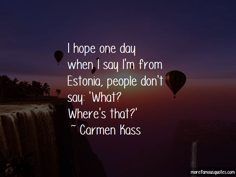 Carmen Kass Quotes Pictures 3