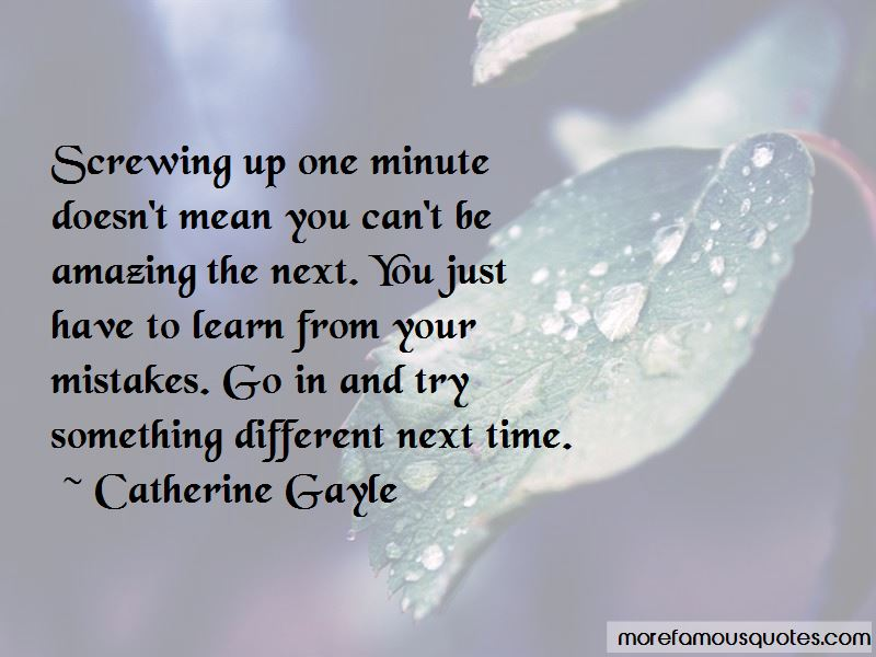 Catherine Gayle Quotes