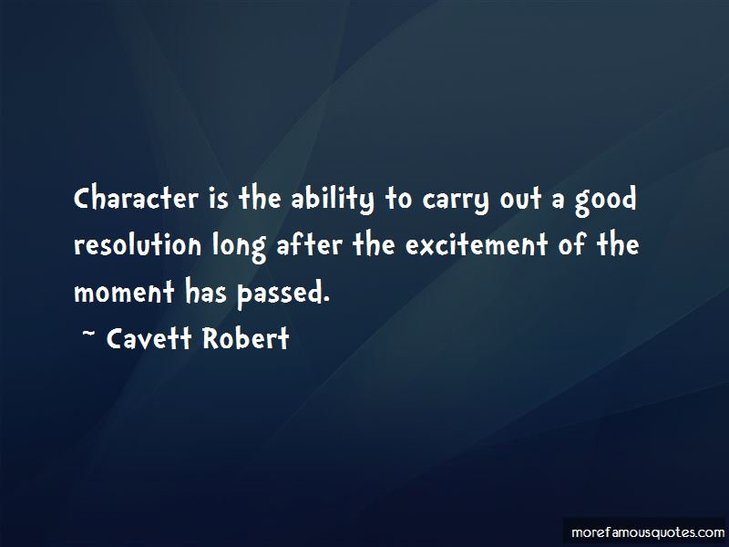 Cavett Robert Quotes