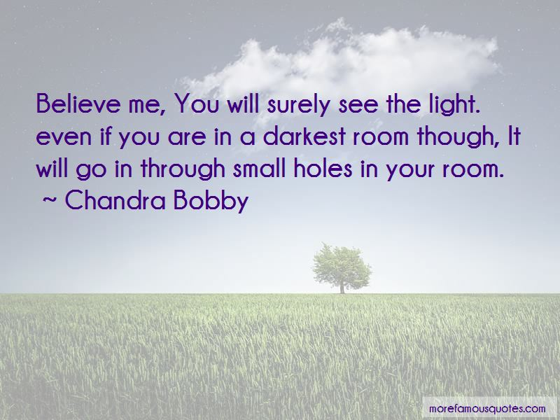 Chandra Bobby Quotes