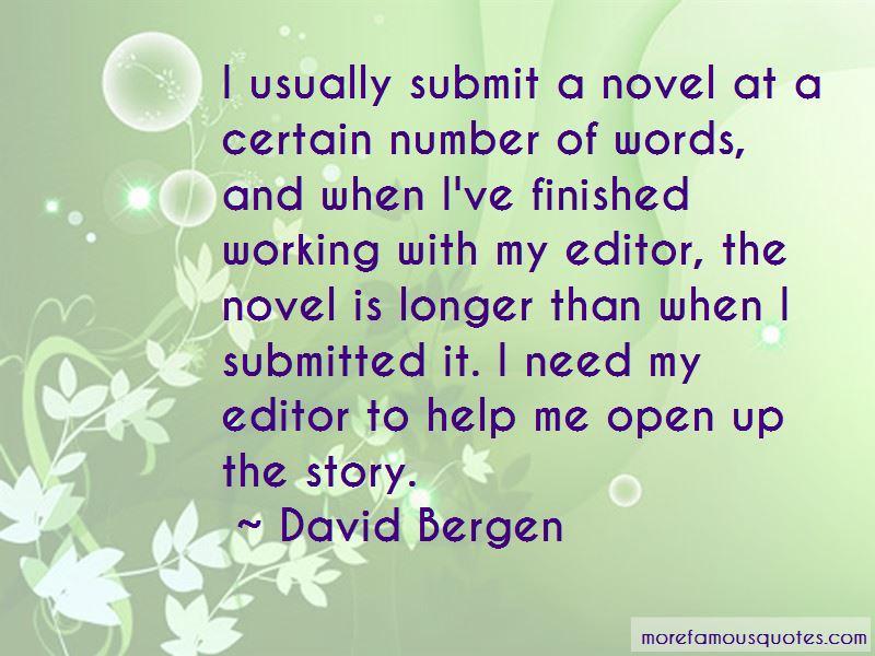 David Bergen Quotes Pictures 2