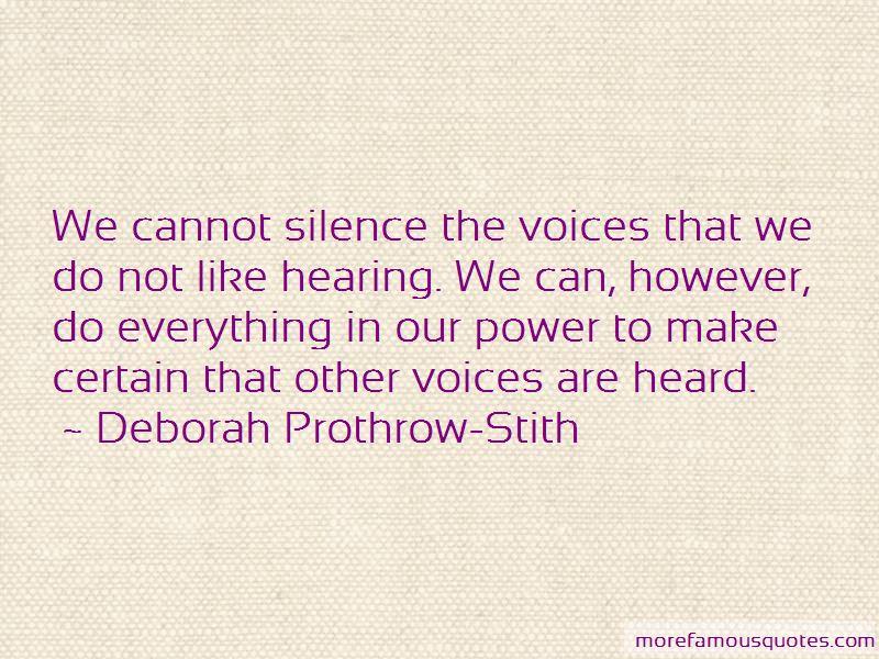 Deborah Prothrow-Stith Quotes